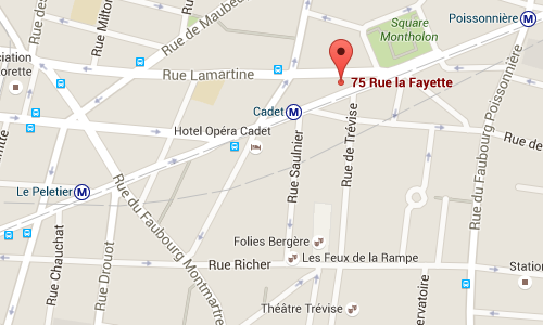 map of paris office location